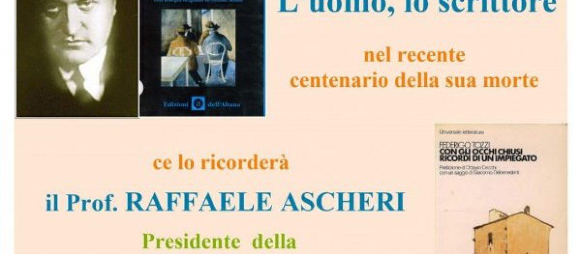 2021.07.16 Federigo Tozzi - Prof. R. Ascheri